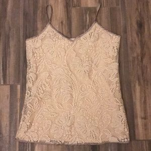 Gorgeous Banana Republic Cream Lace Overlay s